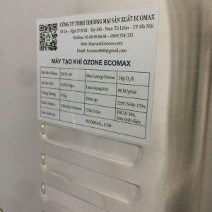 Thông số kỹ thuật máy ozone 10g/h